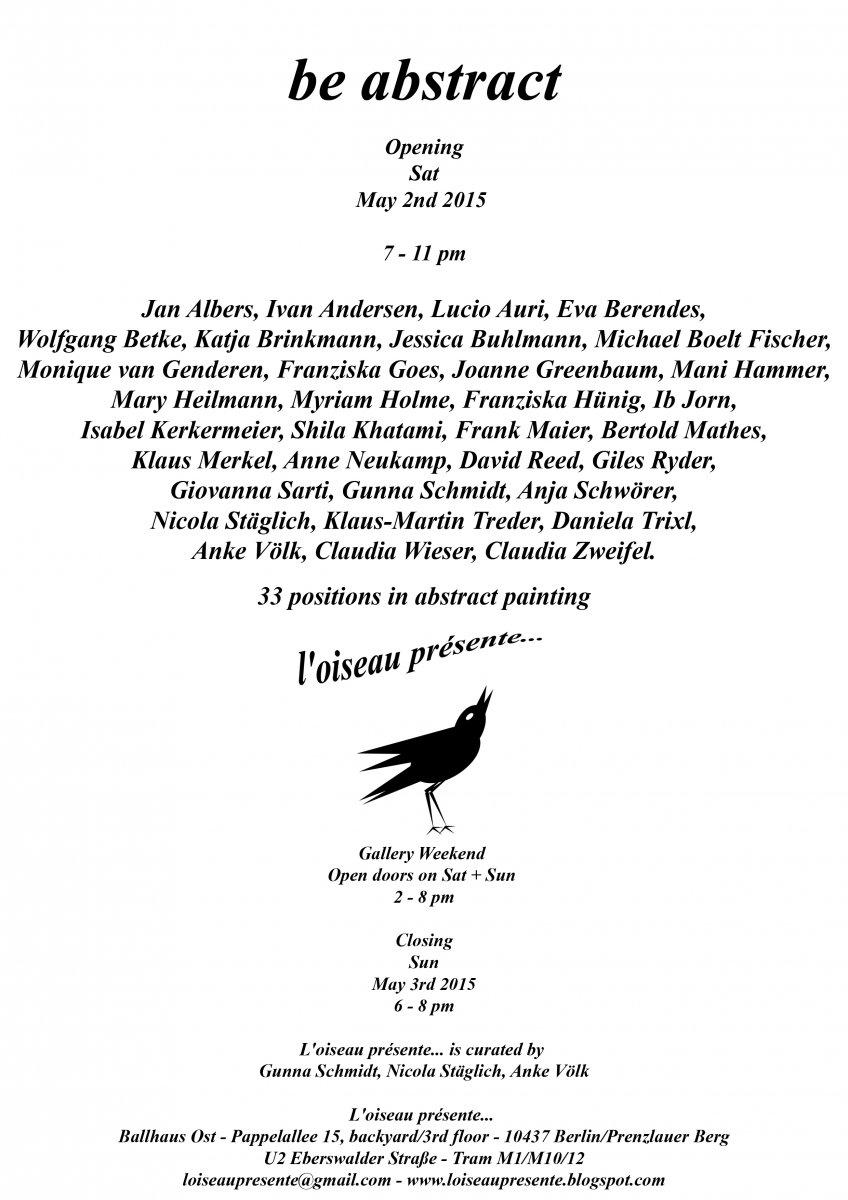be abstract flyer A4 neu print Kopie